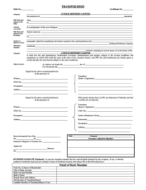 Share transfer deed form download fill online printable for Deed of conveyance template