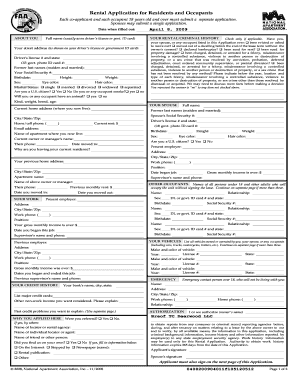 national apartment association lease form