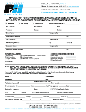 APPLICATION FOR ENVIRONMENTAL  - Butte County