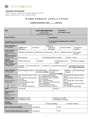 Miami Dade County Building Department Special Inspector Form