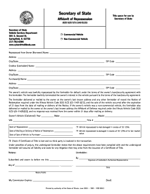 arizona blank repo order form