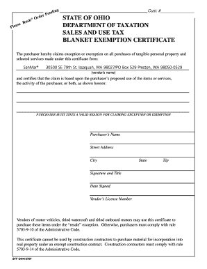 769a ohio state tax exempt form