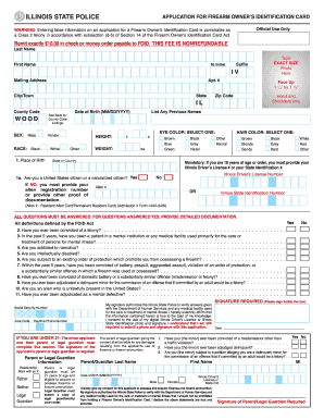 ... foid card application form Fill Online, Printable, Fillable
