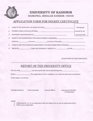 On lineapplicationof degreeof bed in theuniversityofkashmir fill on lineapplicationof degreeof bed in theuniversityofkashmir preview of sample kashmir university bed certificate yadclub Image collections