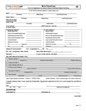 EMudhra DSC Form