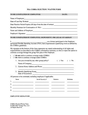 Medical waiver sample letter forms and templates fillable fsa cobra election form sample internship waiver sample form spiritdancerdesigns Gallery