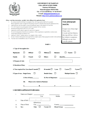 Pakistani Visa Form - Fill Online, Printable, Fillable, Blank ...