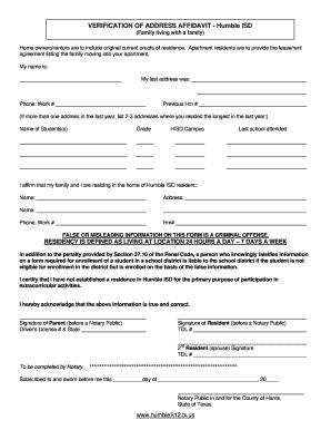 address affidavit fill online printable fillable