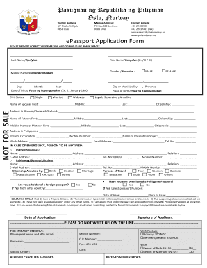 Fillable Online EPassport Application Form (PDF) - Embassy of the ...