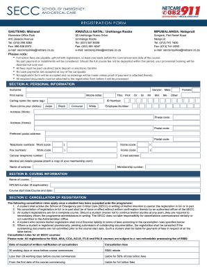 Netcare Paramedic Application Forms