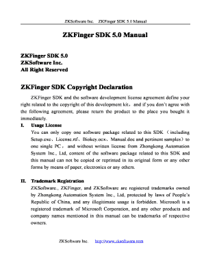 Zkfinger Sdk - Fill Online, Printable, Fillable, Blank