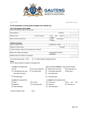 Towing Invoice Template Utasa - Fill Online, Printable, Fillable ...