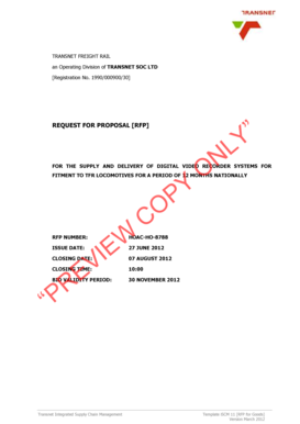 Fillable Online TRANSNET FREIGHT RAIL an Operating Division