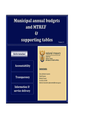 Budget format template - West Coast District Municipality