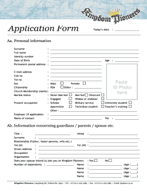 Church Membership Form  Membership Forms Templates