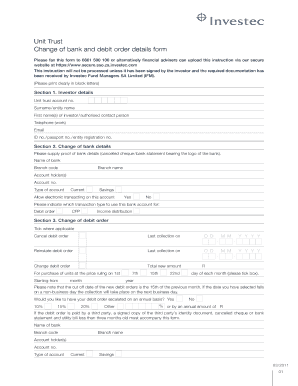 investec static ammandment form