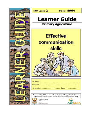 Learner Guide Effective communication skills - AgriSETA - agriseta co