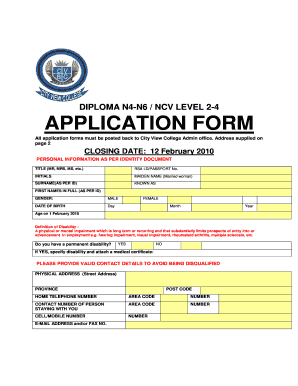 Rostec College Application Form 2018