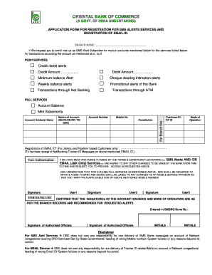 how to fill obc bank account form