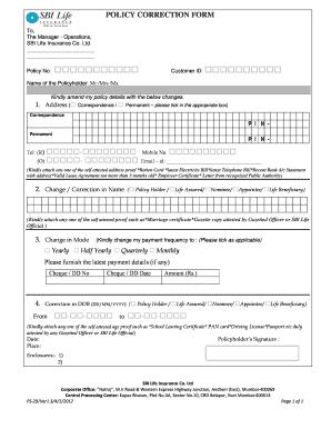 sbi insurance form Fill Online, Printable, Fillable, Blank - PDFfiller