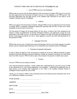 Consent Form Business