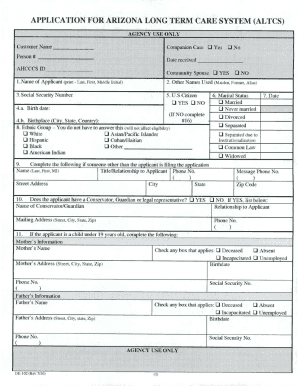 Altcs Application Fill Online Printable Fillable