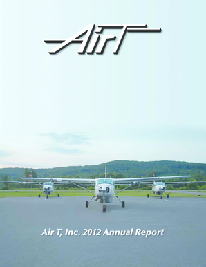 2012 Annual Report - Air T, Inc.