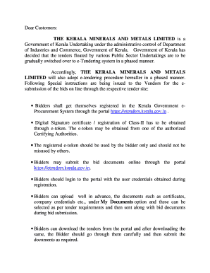 Kerala minerals and metals limited tenders dating