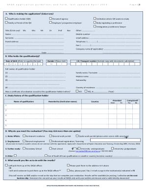 15973605 - Saqa Application Form 2019 Pdf Download