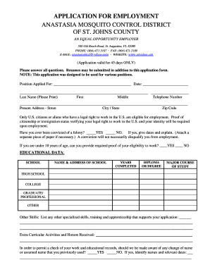 Employee Application Form - Amcdsjc.org - amcdsjc