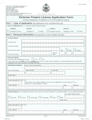 15979282 Victorian Firearms Application Form on gun application form, private gun sale form, pistol application form,