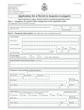 application for a permit to acquire a longarm form