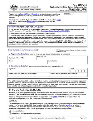 Aviation Civil Aircraft Register Form 027 Part 2 - Fill Online ...