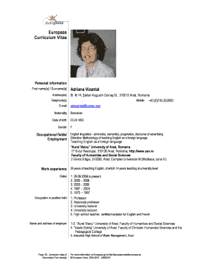 Teacher Cv Pdf Fill Online Printable Fillable Blank
