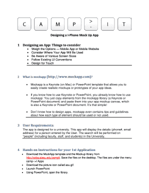 Mobile App Requirements Document Template Fill Out Online
