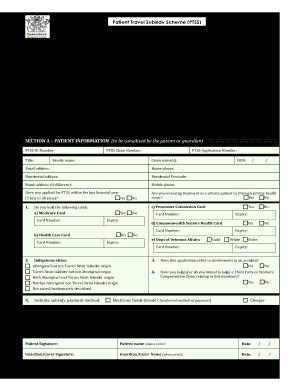 patient travel subsidy scheme form pdf