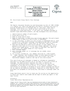 Cigna insurance certificate fill online printable fillable cigna insurance certificate yadclub Image collections