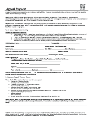 Cigna Appeal Forms - Fill Online, Printable, Fillable, Blank ...
