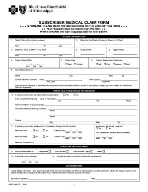 Bcbs 1090 Mississippi - Fill Online, Printable, Fillable