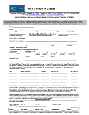 cps step adjustment forms