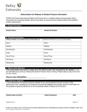 ferpa form online  Devry University Ferpa Form - Fill Online, Printable ...