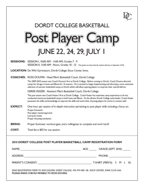 Basketball Post Player Camp 2010.indd - Dordt College Homepages
