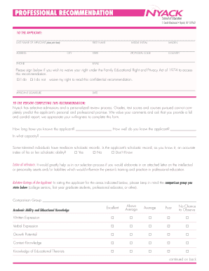 professional reference letter forms and templates fillable