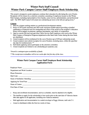 sample scholarship essay forms and templates fillable  book scholarship application template form
