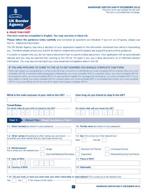 Marriage Visa Form Uk Fill Online Printable Fillable Blank Pdffiller