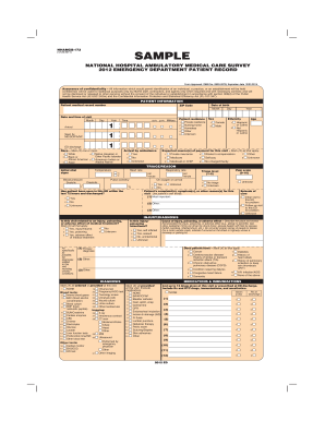 Emergency Room Discharge Papers Template Fill Online