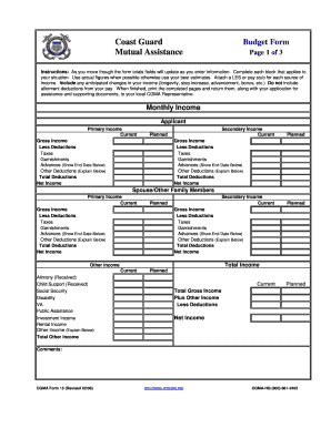 Cgma Form Financial Worksheet - Fill Online, Printable, Fillable ...