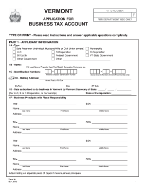 Vermont Form S 1 - Fill Online, Printable, Fillable, Blank | PDFfiller