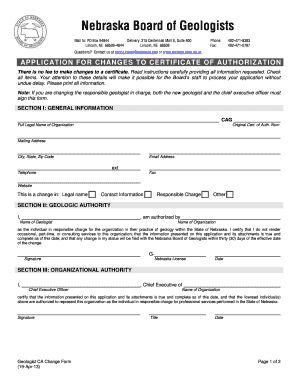 certificate of organization nebraska