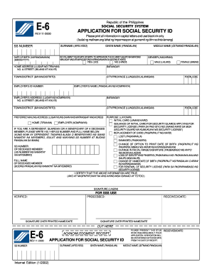 E 6 Form - Fill Online, Printable, Fillable, Blank | PDFfiller